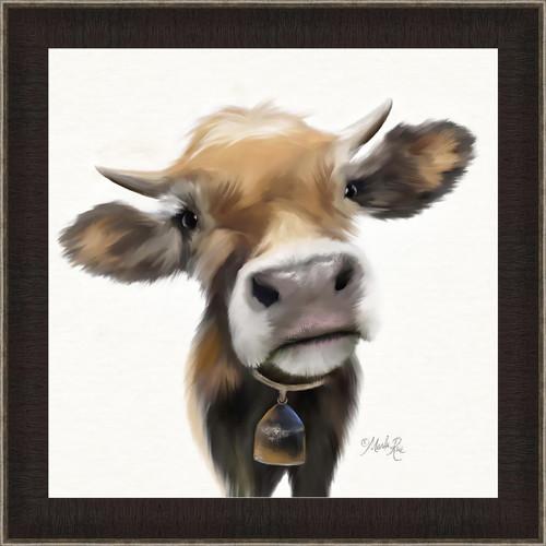 Cow Pose Canvas Art