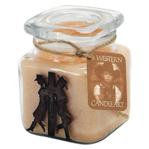 Cowboy & Cowgirl Candle Art Jar