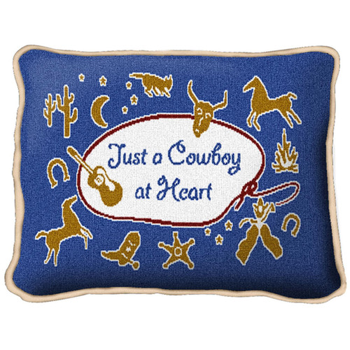 Cowboy at Heart Pillow
