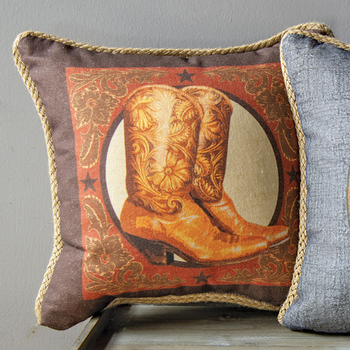 Cowboy Boots Pillow