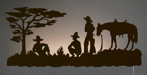 Cowboy Camp Back Lit Wall Art