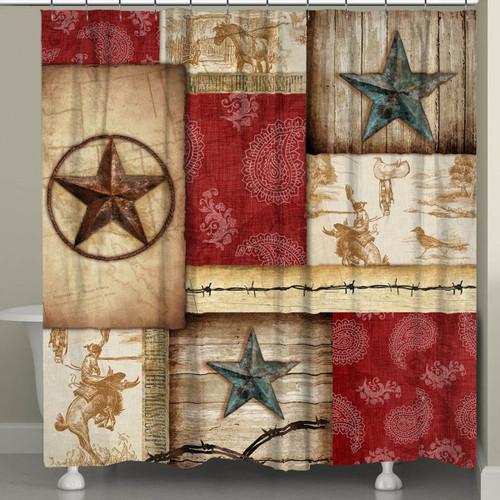 Cowboy Caravan Shower Curtain