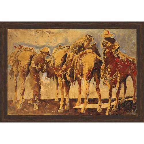 Cowboy Cause Framed Canvas