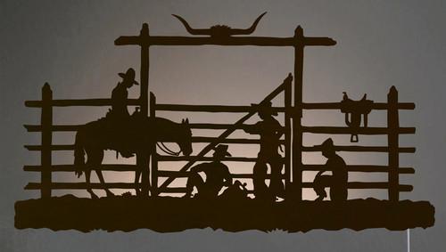 Cowboy Corral Back Lit Wall Art