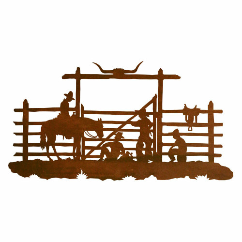 Cowboy Corral Metal Wall Art