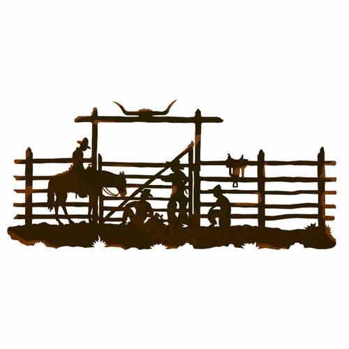 Cowboy Corral Metal Wall Art - 57 Inch