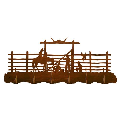 Cowboy Corral Scenic 6 Hook Coat Rack