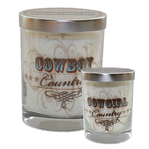 Cowboy/Cowgirl Country Glass Candle