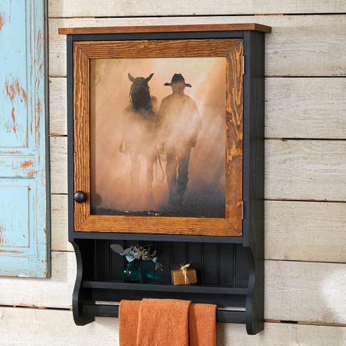 Cowboy Dreams Wood Wall Cabinet