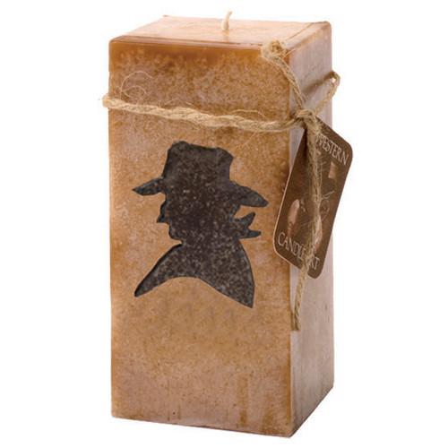 Cowboy Embedded Pillar Candle