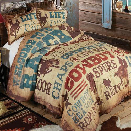 Cowboy Lifestyle Comforter - Queen