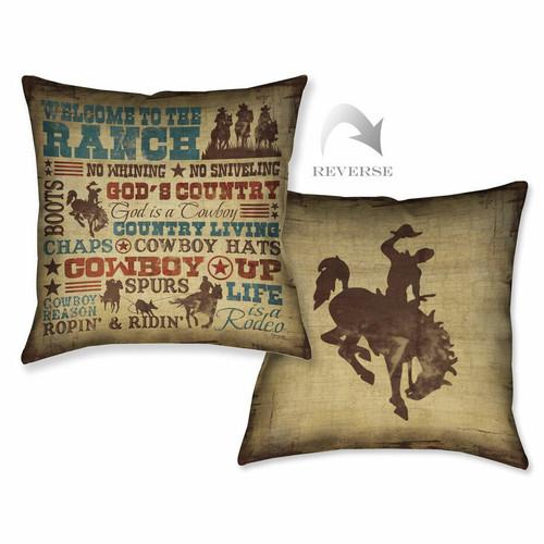 Cowboy Lifestyle Pillow