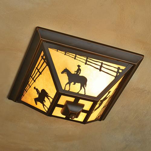 Cowboy Rider Flush Mount Ceiling Light - BACKORDERED UNTIL 11/17/2021