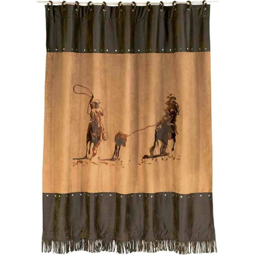 Cowboy Ropers Shower Curtain - BACKORDERED UNTIL 12/3/2021