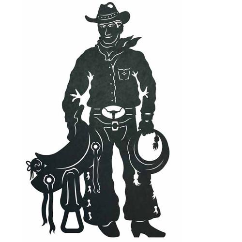Cowboy with Saddle Wall Art