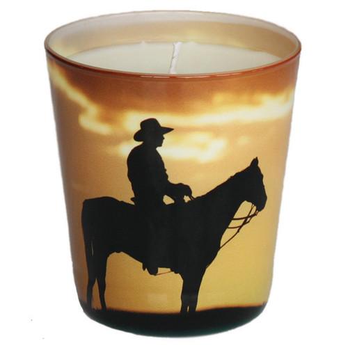 Cowboys at Dusk Candle