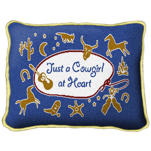 Cowgirl at Heart Pillow