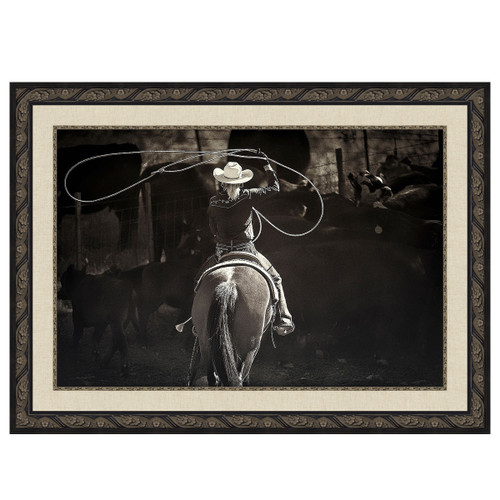 Cowgirl Roundup Framed Canvas