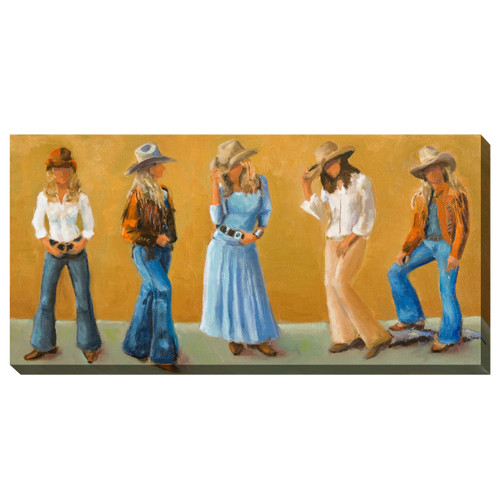 Cowgirl Style Outdoor Wall Art