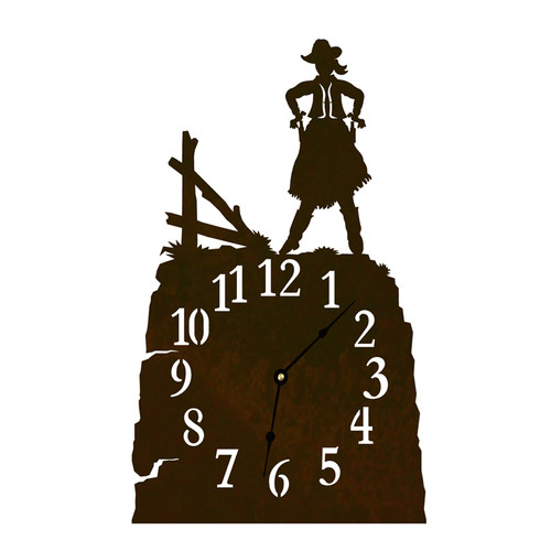Cowgirl Table Clock