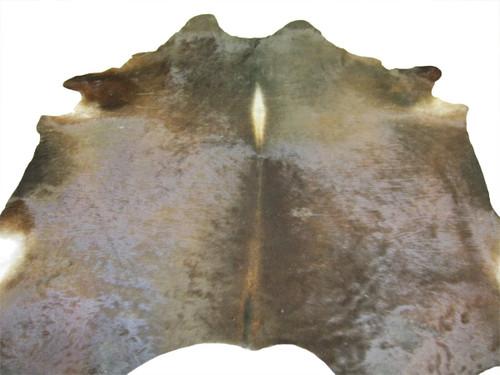 Cowhide Rug - Solid Brown