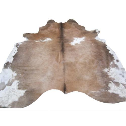 Cowhide Rug - Tan & White