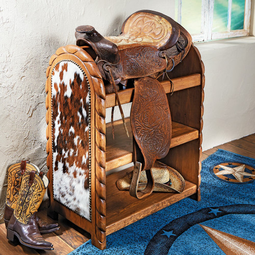 Cowhide Saddle Stand