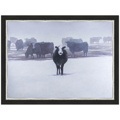 Cows in the Snow Framed Print