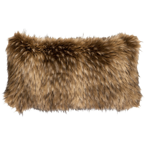 Coyote Faux Fur Rectangle Pillow