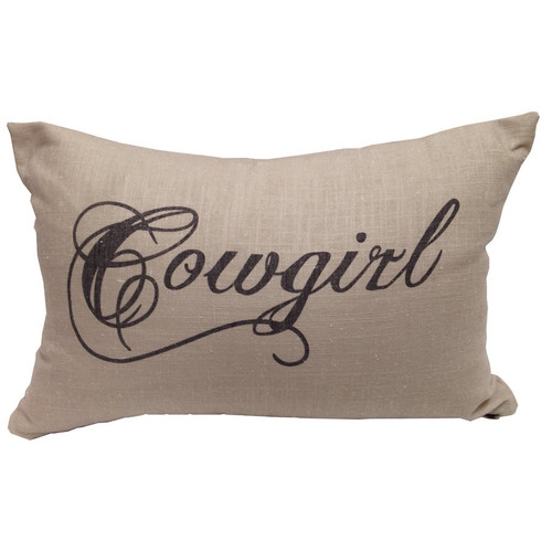 Crestwood Cowboy Accent Pillow - Cowgirl - BACKORDERED UNTIL 9/23/2021