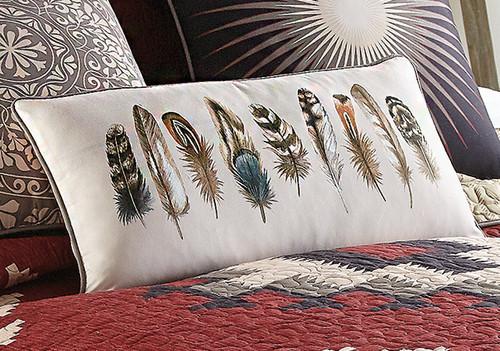 Crimson Vista Feather Pillow