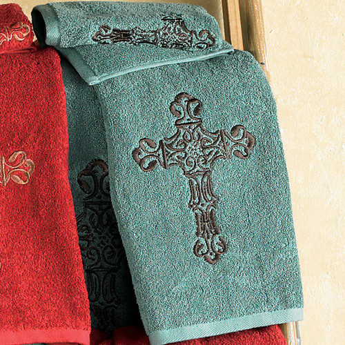 Cross Turquoise Towel Set (3 pcs)