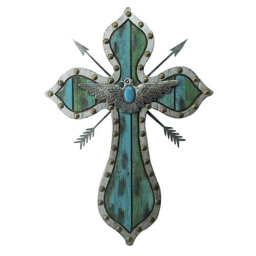Crossed Arrow Thunderbird Wall Cross
