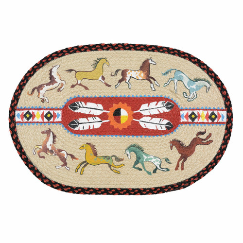 Dancing Horses Braided Rug