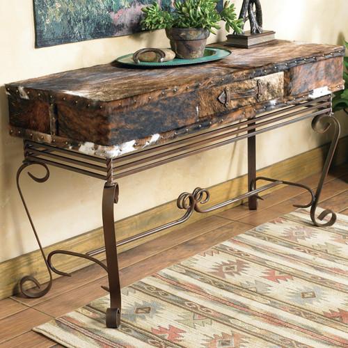 Cowhide Sofa Table