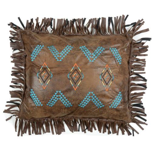 Desert Dance Embroidered Diamonds Pillow