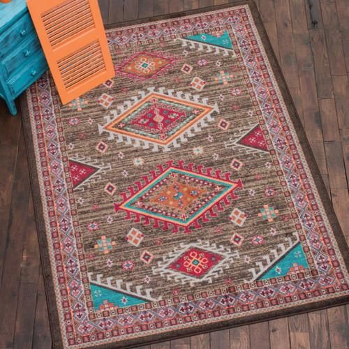 Desert Dance Turquoise Rug - 5 x 8