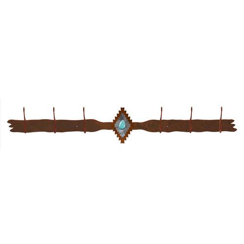 Desert Diamond 6 Hook Coat Rack