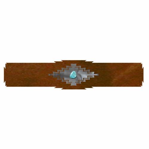 Desert Diamond Rug Rail with Turquoise - 18 Inch