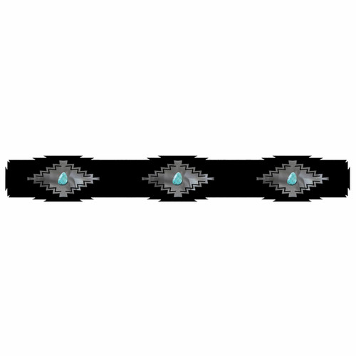 Desert Diamond Rug Rail with Turquoise - 30 Inch