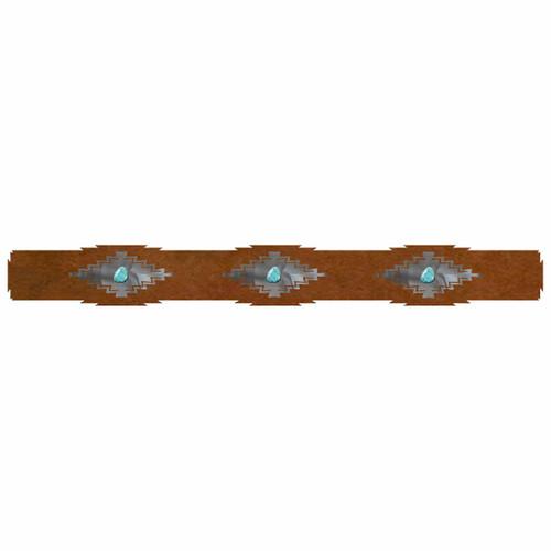 Desert Diamond Rug Rail with Turquoise - 36 Inch