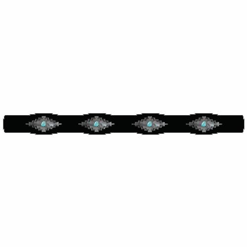 Desert Diamond Rug Rail with Turquoise - 48 Inch