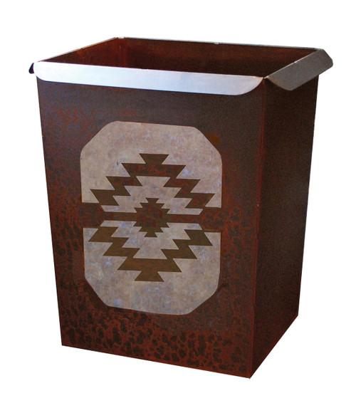 Tribal Diamond Waste Basket
