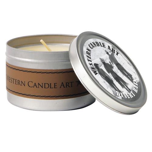 Desert Rain Western Tin Candle
