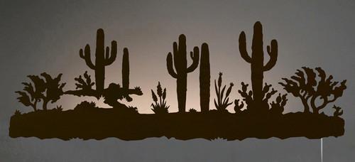Desert Scene Back Lit Wall Art