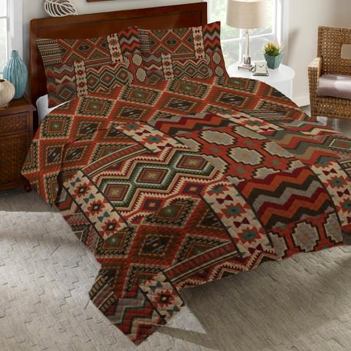 Desert Summer Quilt Bed Set - Queen
