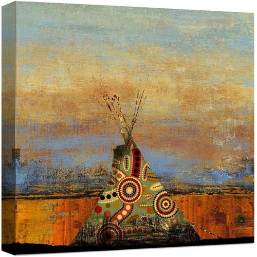 Desert Teepee Canvas Art