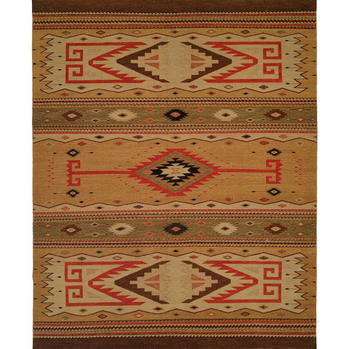 Diamond Bands Rug - 6 Ft. Square