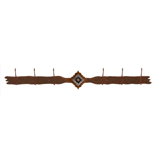 Diamond Copper Berry Concho 6 Hook Coat Rack