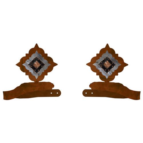 Diamond Copper Concho Tie Backs - Set of 2